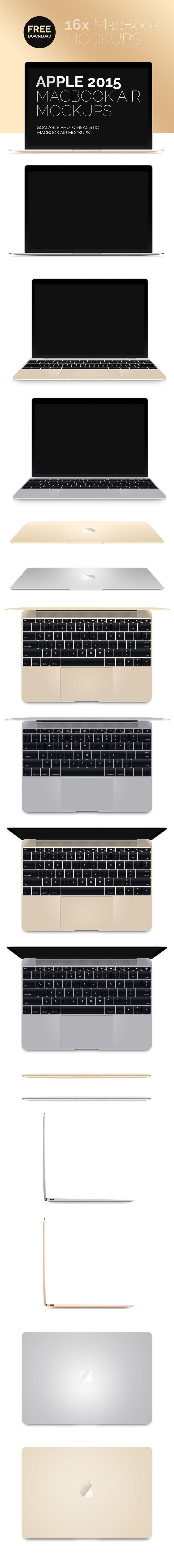 Free New MacBook Air 2015 Mockup (10 MB) | designtory.net