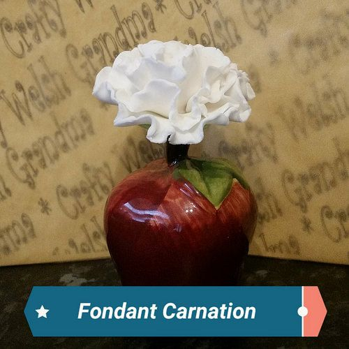 Fondant Carnation