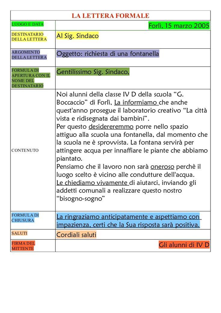 Lettera formale by ornella faggion via slideshare