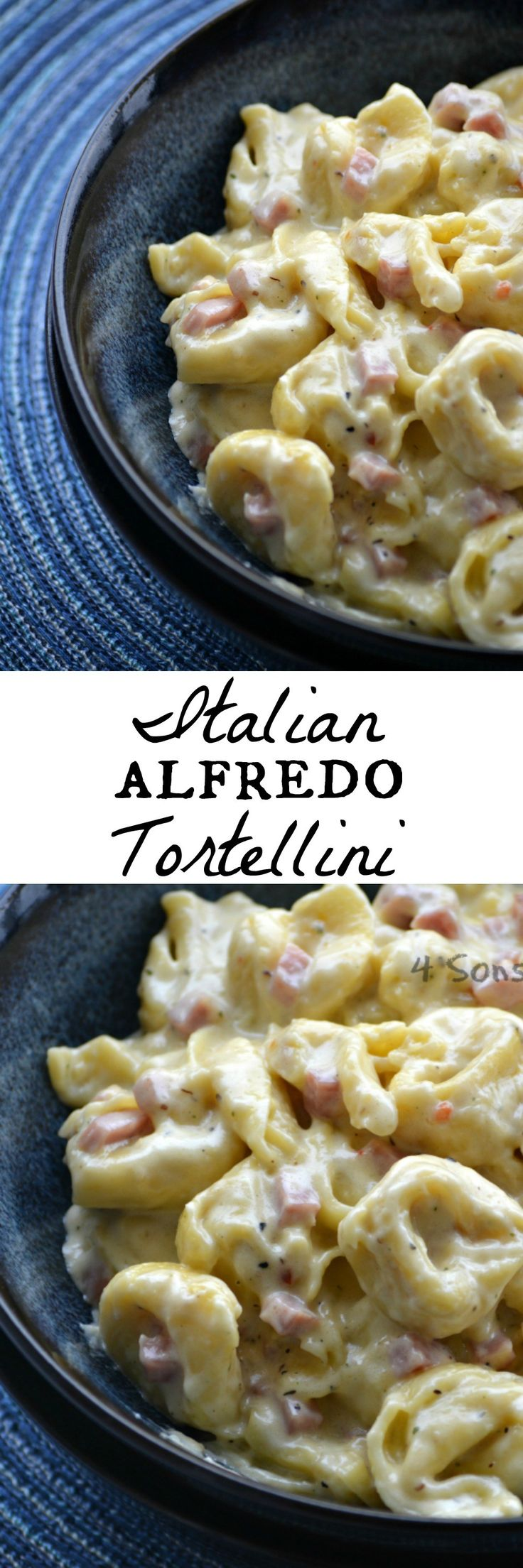 It's quick, easy, and oh-so creamy. This Italian Alfredo Tortellini with Ham makes a yummy lunch or dinner. It's perfect for busy weeknights, or even on lazy days when you need to serve a crowd. However you choose to serve it this Italian Alfredo Tortellini With Ham is a simple meal that's seasoned to perfection.