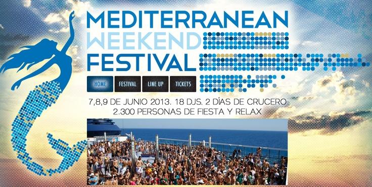 Mediterranean Weekend Festival.  2300 personas en un crucero y mucha fiesta