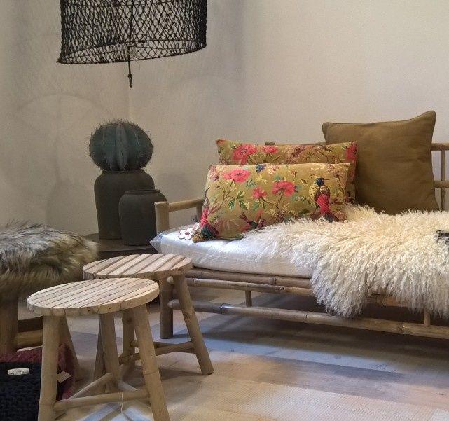 Tine K Home - Bamboe kruk - 35 cm