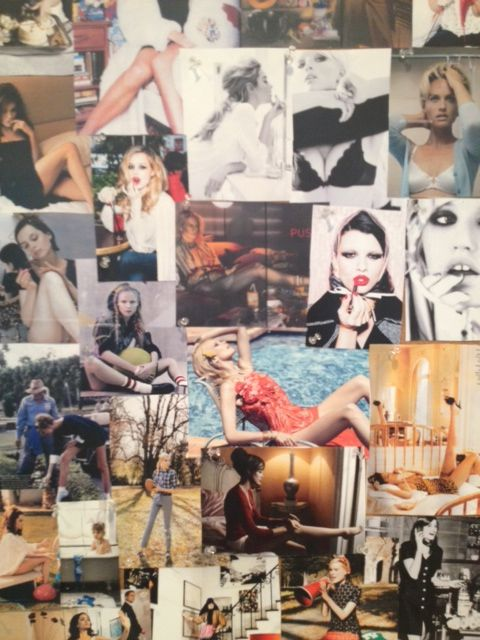5/29, 1:15 PM: West coast editor @Jen Weinberg shares a glimpse of the #fashion mood board--for the cover shoot! #makingsept
