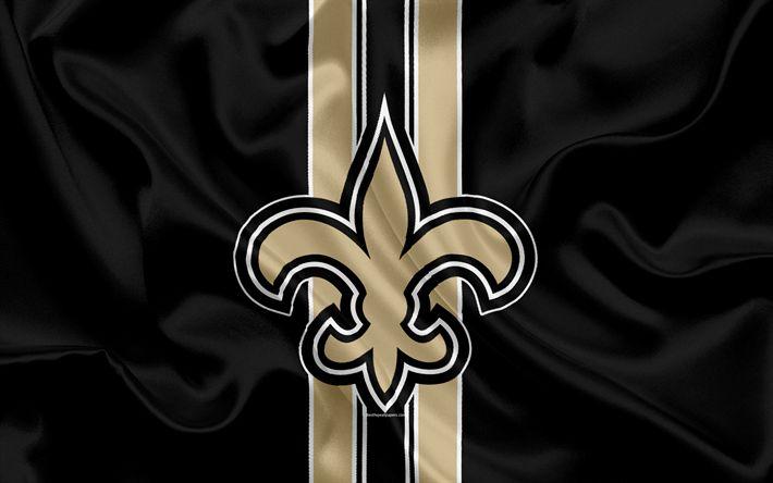 Télécharger fonds d'écran Les New Orleans Saints, le football Américain, le logo, l'emblème, la NFL, la Ligue Nationale de Football, la Nouvelle-Orléans, Louisiane, etats-unis, la National Football Conference