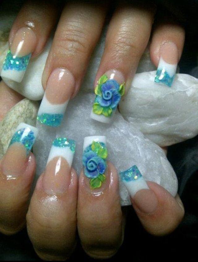 Acrylic nails by Yamileth Duarte