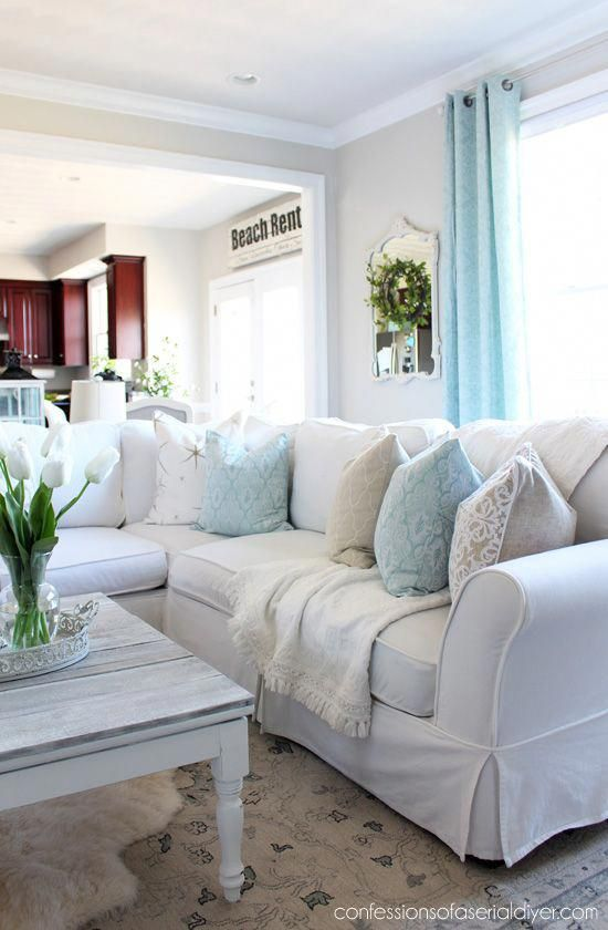 Spring Living Room from confessionsofaserialdiyer