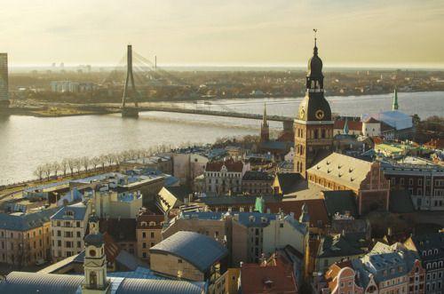 A beautiful day in Riga.