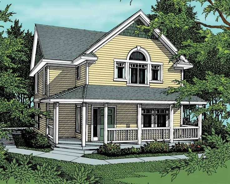Farmhouse+House+Plan+with+1649+Square+Feet+and+4+Bedrooms+from+Dream+Home+Source+|+House+Plan+Code+DHSW14150