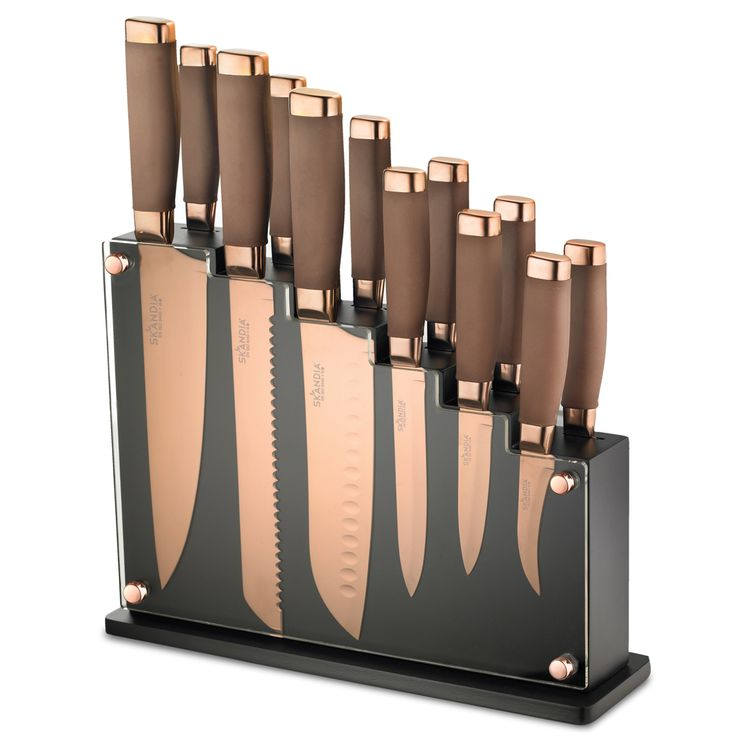 Can't wait to buy this for my kitchen! Fab!   Forte 13 Piece Knife Block Set | Hamptonforge.com