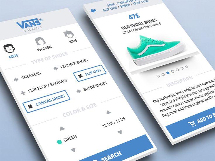 Vans Shoes Concept iOS
