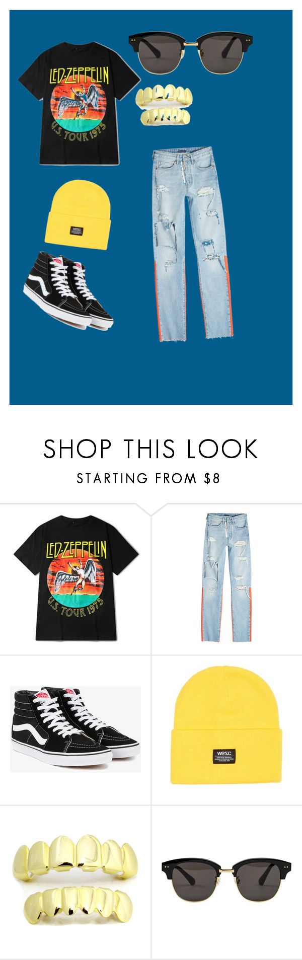 """Untitled #27"" by dajahp ❤ liked on Polyvore featuring Off-White, Vans, WeSC, Gentle Monster, men's fashion and menswear"