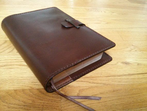 Best 25 leather book covers ideas on pinterest diy leather book handmade leather bible cover in dark brown by heirloomleather 11900 solutioingenieria Choice Image