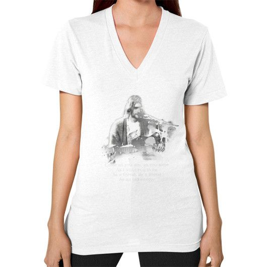 Kurt cobain come as you are V-Neck (on woman)