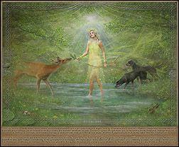 Dziewanna  Spring,  goddess of youth, hunting, animals and nature.