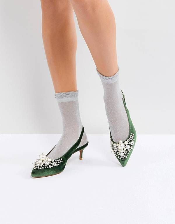 f991db859ad Essentiel Antwerp Pastis Heeled Shoes With Pearls