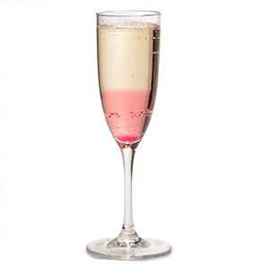 Rose-ecco Rose-ecco  Invented by Sophie Dahl - fill a glass with Prosecco and pour one tablespoon of rose syrup down the inside of the glass so that it slides to the bottom.