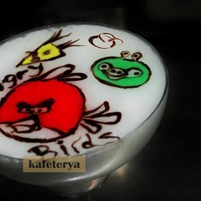 Latte art angry birds