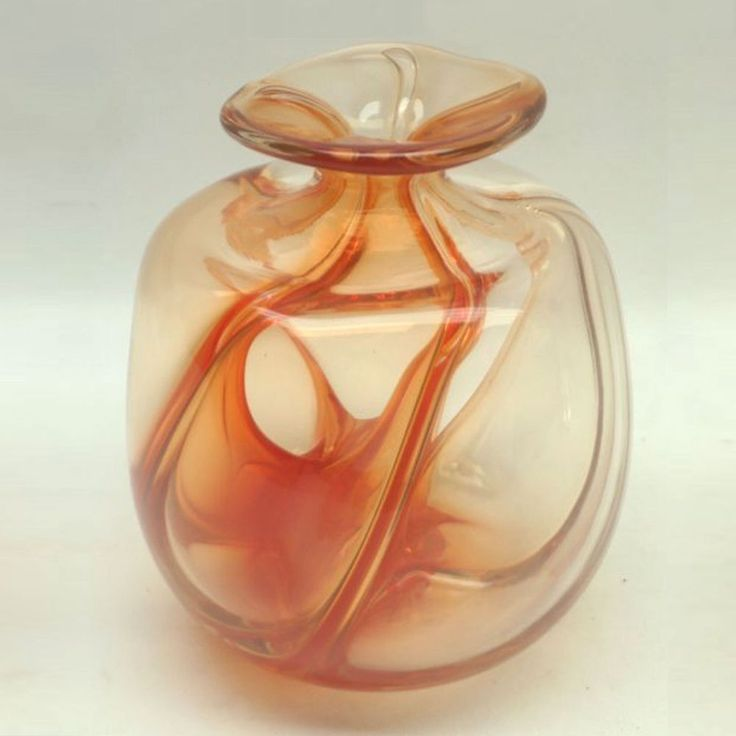 Vintage Brian Lonsway Studio Art Glass Vase Sculpture Artist Signed Dated 82 #ModernistAbstract #toledo #vintageforsale