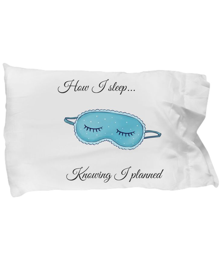 Planner Girl Sleep Pillow Case Planner People Eyelashes Sleep Mask