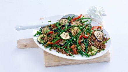 Linzensalade met gegrilde groenten - Recept - Allerhande - Albert Heijn