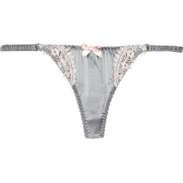 Agent Provocateur Stephanee satin tanga thong ($46) ❤ liked on Polyvore featuring intimates, panties, lingerie, underwear, agent provocateur, low rise thong panties, pink satin panties, lingerie panty, tanga panty and thong panties