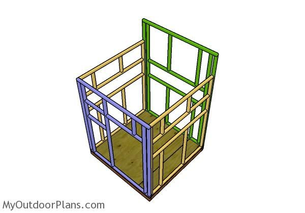 5x5 Shooting House Plans Myoutdoorplans Free Woodworking Plans And Projects Diy Shed Wooden Playhouse P Shooting House Wooden Playhouse Deer Blind Plans