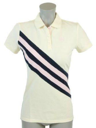 Tommy Hilfiger Women Classic Fit Sash Logo Polo Shirt - X-Small - Cream Tommy Hilfiger. $39.99