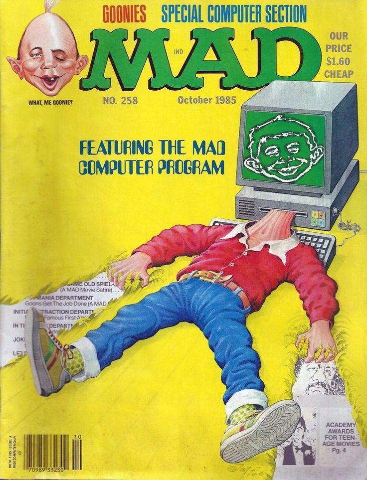MAD Magazine - Featuring The MAD Computer Program #258 - October 1985 Goonies   eBay