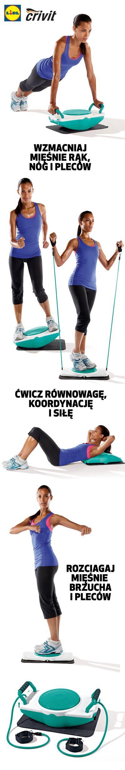 Stwórz swoją domową siłownię. Z pomocą platformy fitness ćwicz swój zmysł równowagi oraz ruchową koordynację! #lidl #trening #fitness