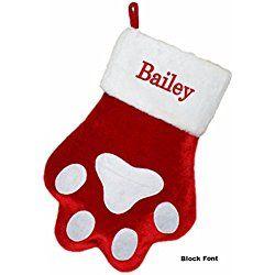 Personalized Dog Paw Christmas Stocking (CUSTOM)