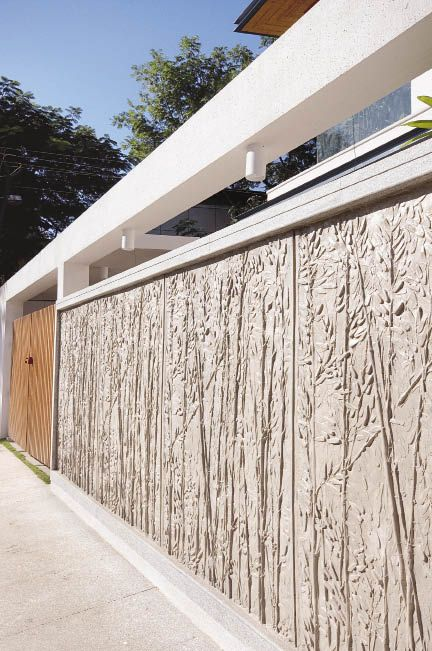 16 best boundary wall images on pinterest arquitetura for Home outer wall design