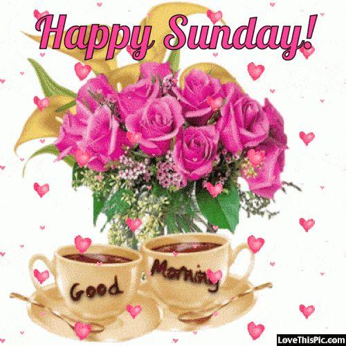 Happy Sunday Good Morning Hearts Gif