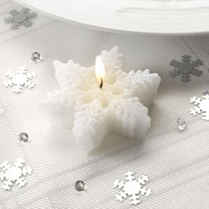 Set Of Three Snowflake Tealight Candles - christmas home accessories