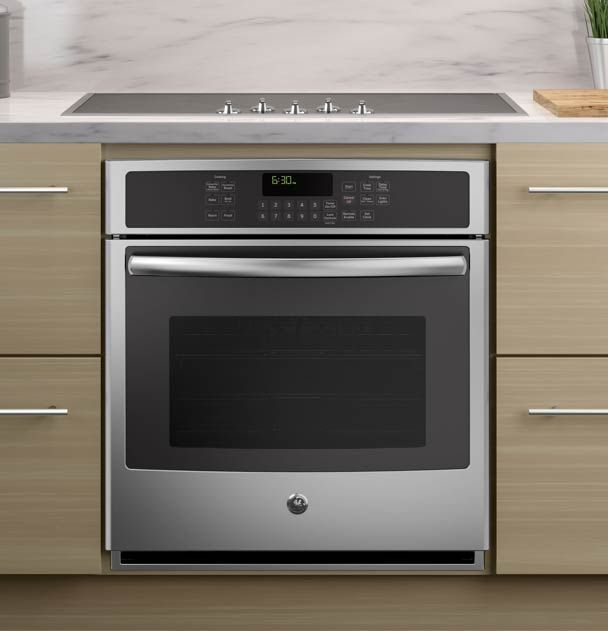 Single Wall Oven With A Cooktop Wall Oven Kitchen