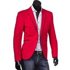 Пиджак Alcino приталенный цвет красный однотонный