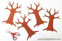 Step 2a 3D Paper Tree craft
