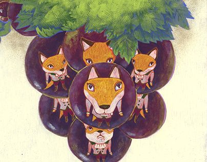 """Check out new work on my @Behance portfolio: """"The Fox and the Grapes Picture book of Aesop's fables"""" http://be.net/gallery/51223129/The-Fox-and-the-Grapes-Picture-book-of-Aesops-fables"""