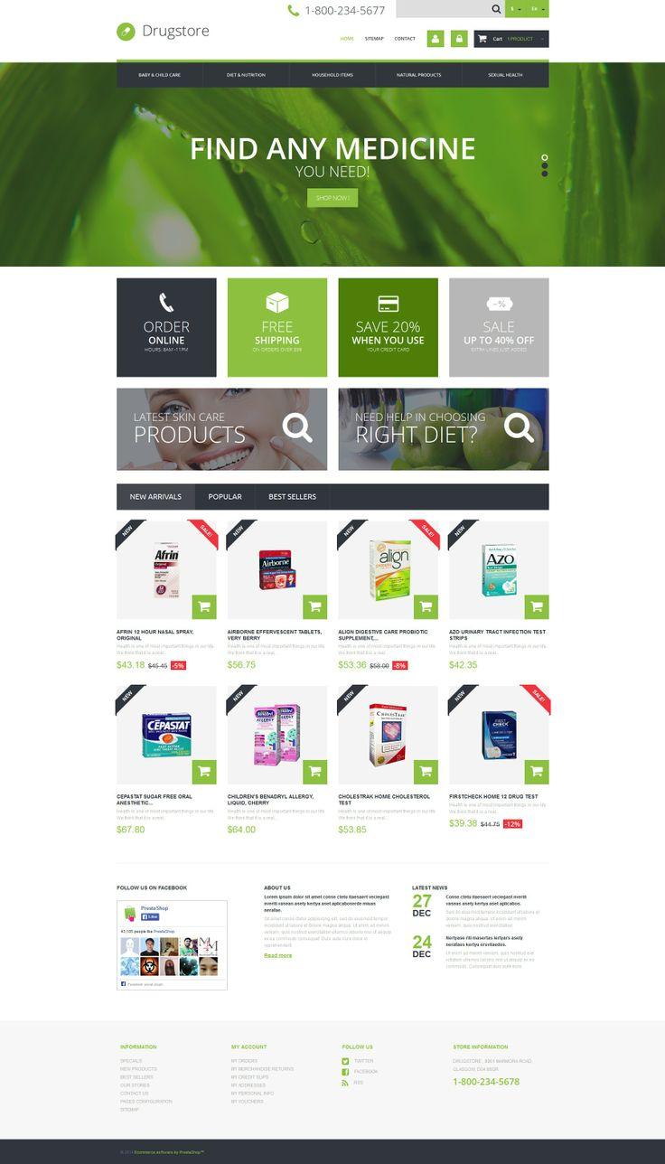 'Drugs Store' #webdesign for #PrestaShop Template http://zign.nl/49469