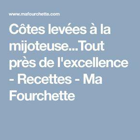 Côtes levées à la mijoteuse...Tout près de l'excellence - Recettes - Ma Fourchette