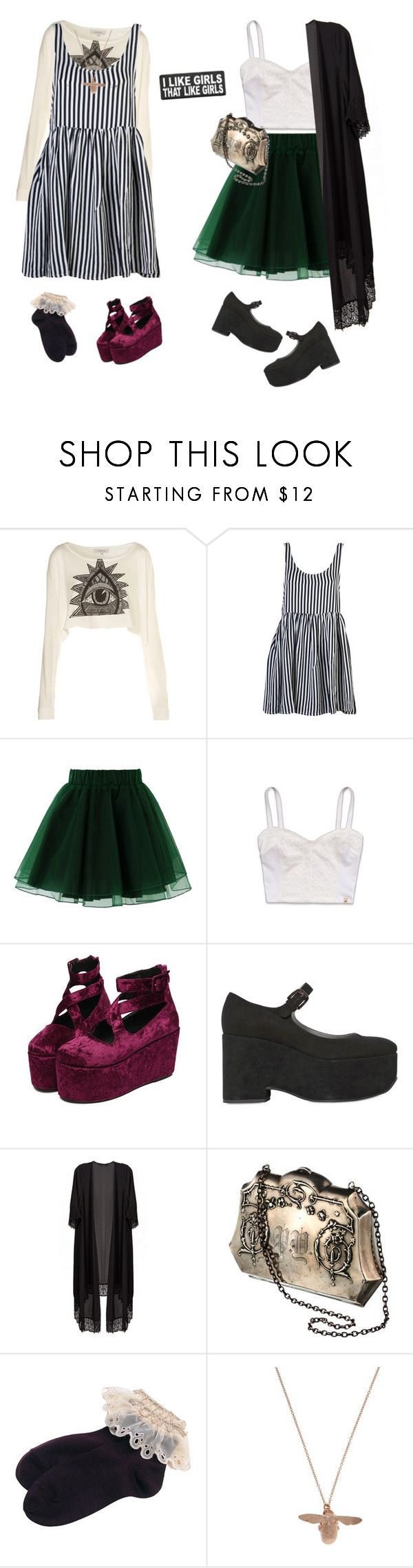 """""""Oh Darling, She's a Keeper"""" by vogelprinz ❤ liked on Polyvore featuring Illustrated People, Friend of Mine, Chicwish, Hollister Co., Jil Sander Navy, Alexis Bittar and Alex Monroe"""