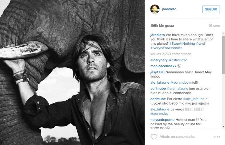 Captura del instagram de Jared Leto
