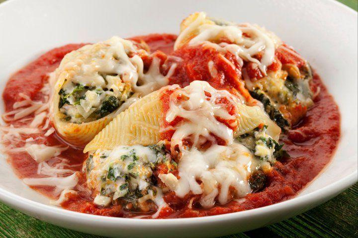 Feta, Spinach and Artichoke Italian Stuffed Shells