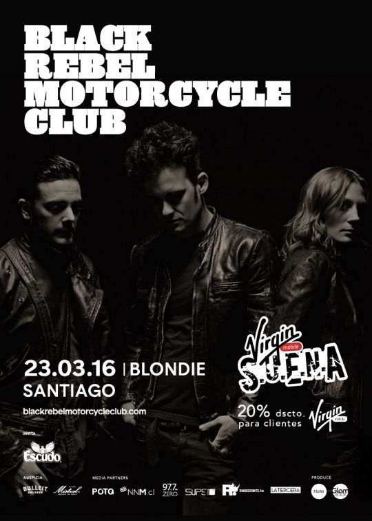 [www.PartyMonter.cl] Black Rebel Motorcycle Club en Chile 2016 / 23.Marzo en @blondieClub