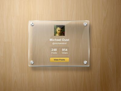 Dribbble - Glass Frame by Pixeden