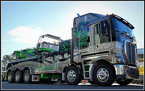 Tri Axle Roll Back : Kenworth k twin steer tow truck wreckers pinterest