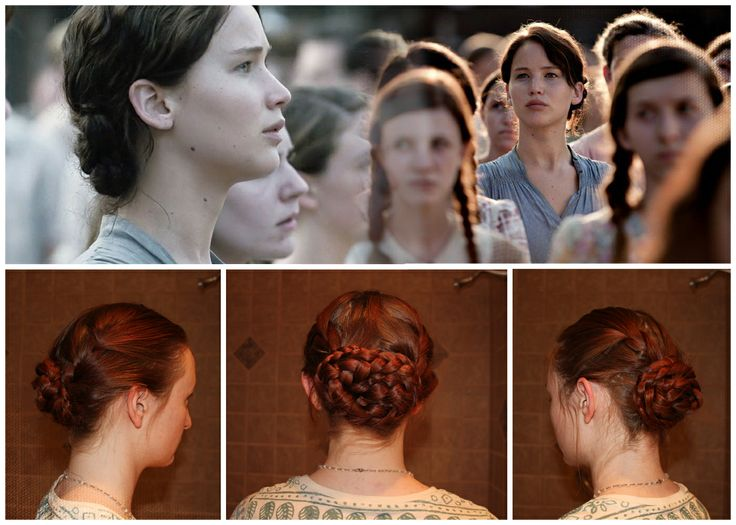 Katniss Braid Bun For The Reaping Ceremony Of The Th Annual - Bun hairstyle games