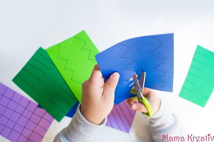 Schneiden lernen mit Kindern: 10 einfache Ideen