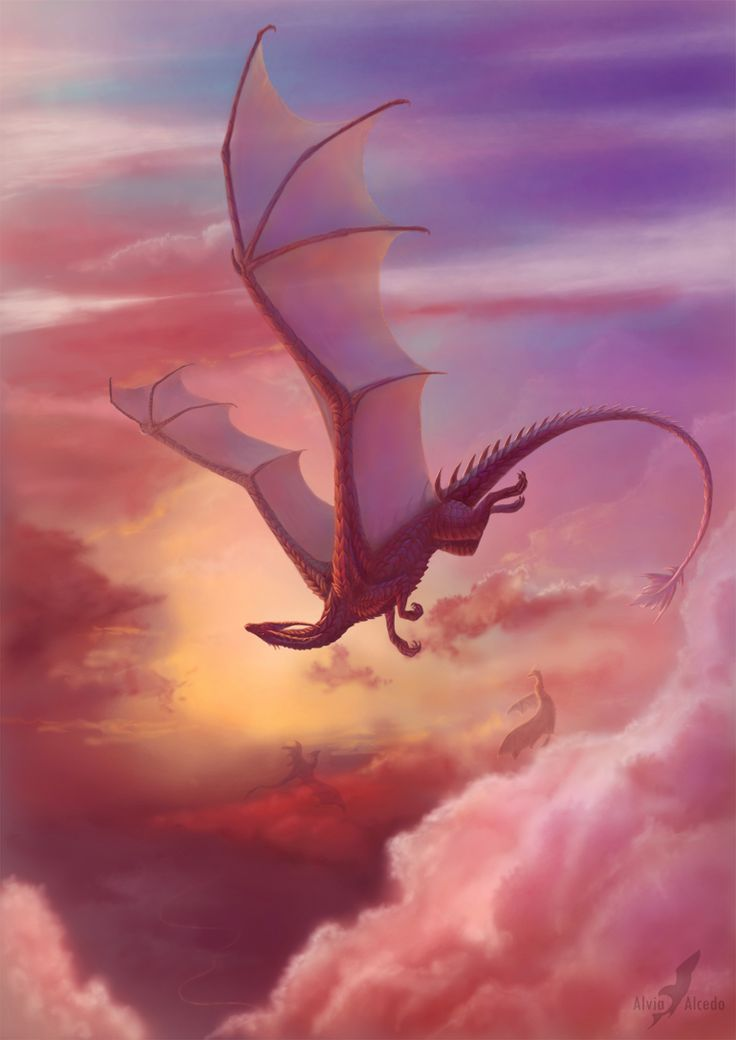 incredible dragon pic, makes me wish i could fly (Close to heaven by AlviaAlcedo on deviantART)