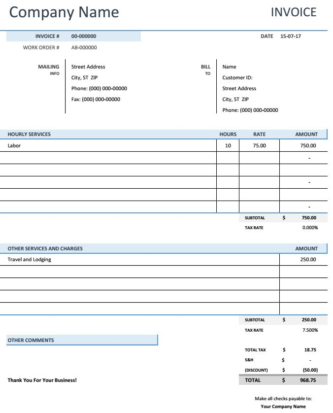 51 best Excel Template images on Pinterest Template, Role models - salary invoice template