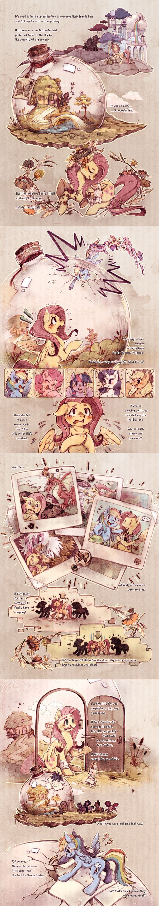 Fluttershy. I lov3 the way they put this